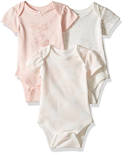 ace47ce957e Sterling Baby by Vitamins Baby Girls' Printed and Solid Bodysuits 3 Pack  Set, Worth the Wait, 3M - Buy Online in Oman. | Apparel Products in Oman -  See ...