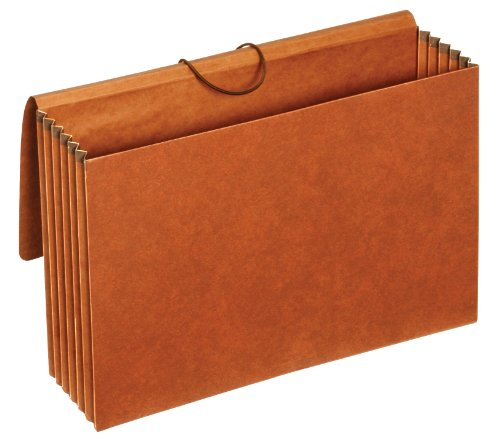 Globe-Weis/Pendaflex Standard Letha-Tone File Wallet, 5.25-Inch Expansion, Elastic Cord Closure, Legal Size, Brown, 10-Count (Globe Weis Expanding Wallets)