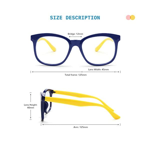 Gaoye 2 Pack Kids Blue Light Glasses Girls Boys Age 3 15 Computer Gaming Fake Eyeglasses Anti Eyestrain