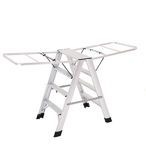 Step Ladder For Heavy People 4 Step, Aluminum Alloy Drying R