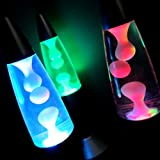 Mini Lava Lamps (Set of 3) - Battery Operated LED Lava Lamp with Color Changing Lights