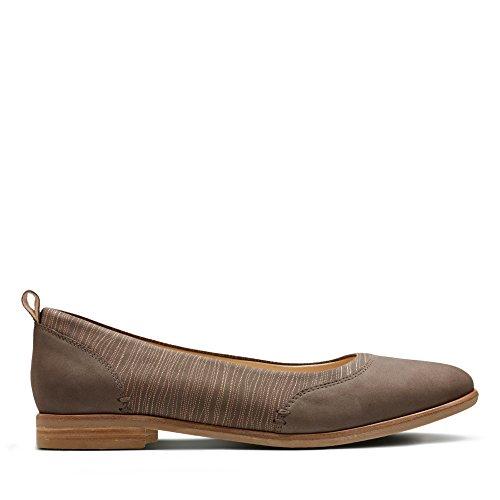 Beige de Zapatos Mujer Beige para de Piel Cordones Clarks qZw5vg00