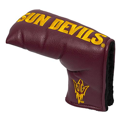 Team Golf NCAA Arizona State Sun Devils Golf Club Vintage Blade Putter Headcover, Form Fitting Design, Fits Scotty Cameron, Taylormade, Odyssey, Titleist, Ping, Callaway
