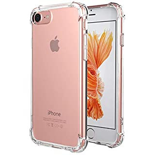 for iPhone SE 2020 Case, for iPhone 7 Case, for iPhone 8 Case, Matone Crystal Clear Shock Absorption Technology Bumper Soft TPU Cover Case for iPhone SE(2nd Generation)/iPhone 7/iPhone 8 - Clear