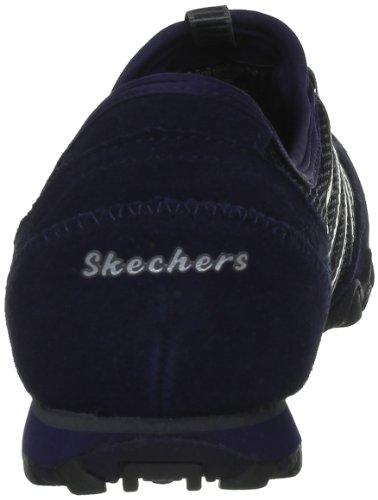 nbsp;Hot Skechers Azul Ticket cuero Nvy Bikers NVY de para 21159 Zapatillas mujer Blau rv5rZxqg