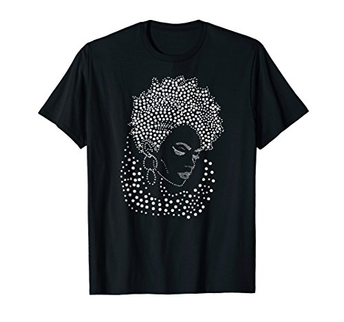 Black Divas are Beautiful Afro Pointillism Style T Shirt