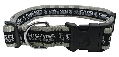 MLB CHICAGO WHITE SOX Dog Collar, X-Large