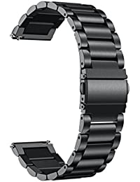 Beccoler New Stainless Steel Strap Wrist Bands Replacement for Samsung Gear Sport