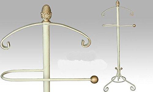 DonRegaloWeb–Servomuto in ferro battuto in colore bianco decapé