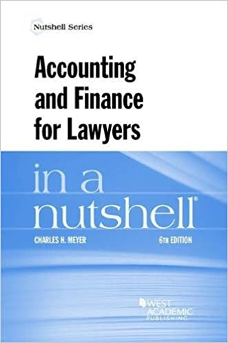 Book Accounting and Finance for Lawyers in a Nutshell (Nutshells)