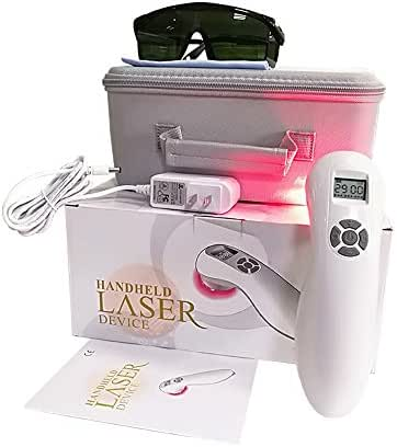 Pain Relief Low Level Cold Laser Therapy Device LLLT Red Light Portable Handheld Unit 650nm+808nm for Knee, Shoulder, Back, Joints Muscle Pain Reliever