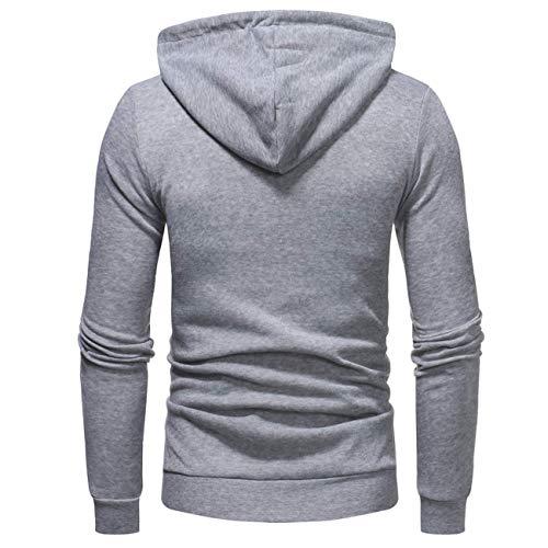 Cappuccio Tempo Outwear Tasca Casual Grigio Felpa Moda Pullover Libero Con  Cappuccio Velluto Top Imbottito Autunno In Lunga ... 471c797c526