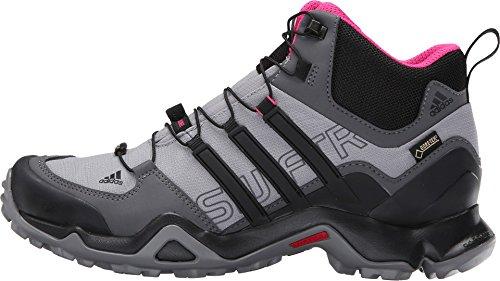 adidas Terrex Swift R Mid Gore-Tex Womens Hiking Shoe 5 Shock Pink/Granite/Black 2