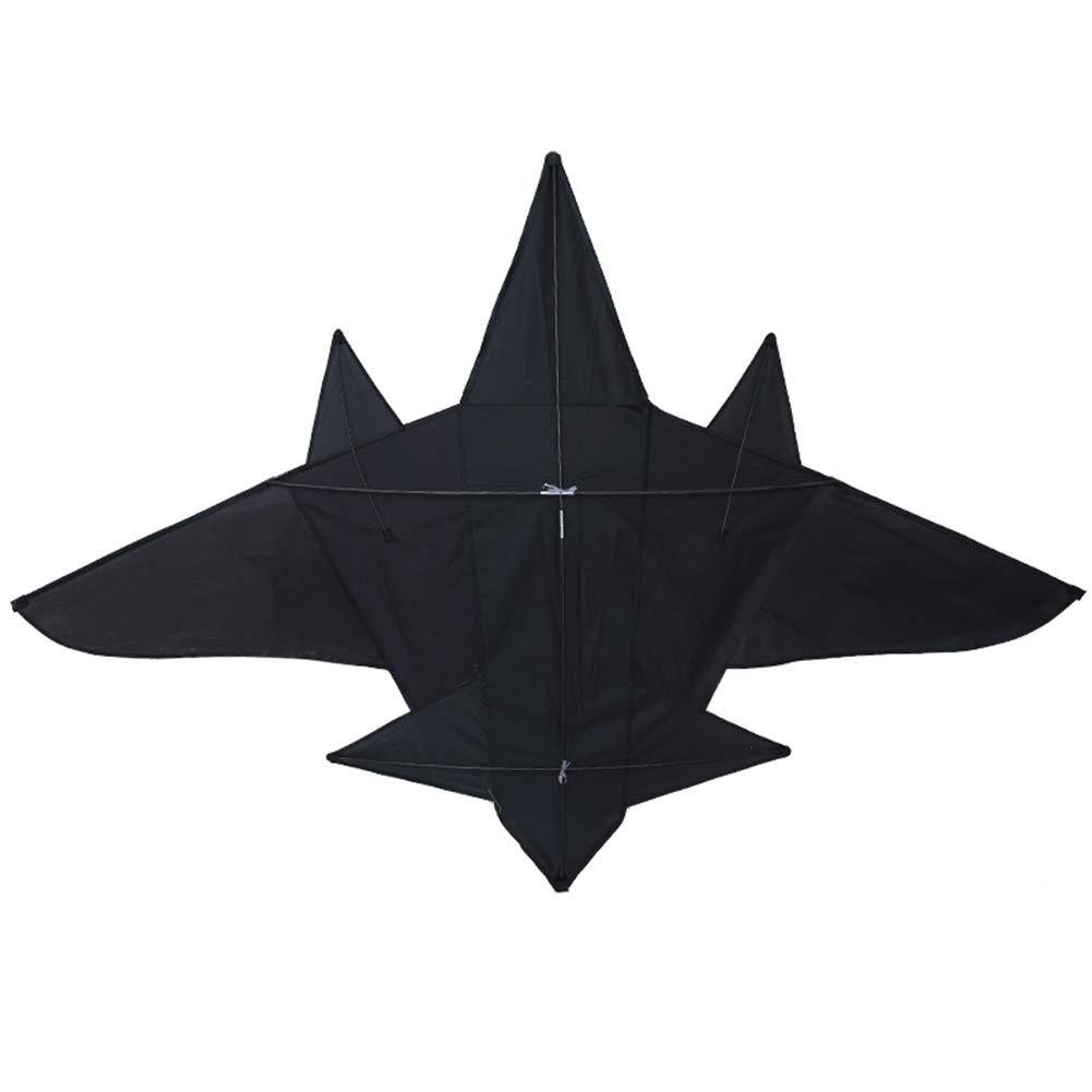 Cacoffay 大型三角形 ブラック 3D ステレオ 飛行機 カイト 子供 大人 アウトドアゲームやアクティビティ用おもちゃ 思い出に残る夏の楽しい計画に B07RXBYD1Y