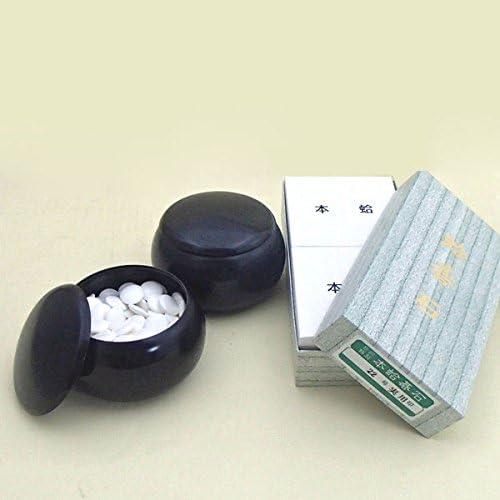 碁石セット 蛤碁石実用22号(約6.3mm)とP黒大碁笥