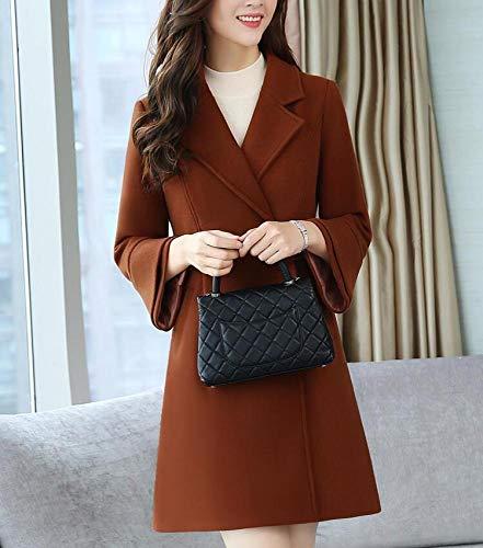 giacca cotone cappotto di a vento vento e calda in Ab invernale moda Caduta rovere donna caramello invernale in da giacca donna in lungo lana EqPxY