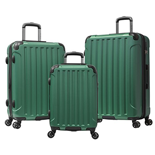 Olympia Whistler Ii 3 Piece Luggage Set 21/25/29 Inch, Green (Whistler Green)