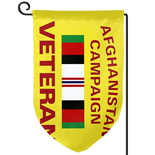 KHFSLJKBNSL Double Sided Afghanistan Campaign Veteran Garden Flag, Afghanistan Campaign Veteran Decorative Garden Flags - Weather Resistant & Double Sided - 12.5 X 18 Inch (Best Places To Visit In Afghanistan)