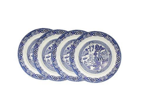 Cuthbertson Blue Willow - Royal Cuthbertson Blue Willow Dinner Plate, Set of 4