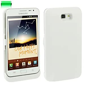 5V 3200mAh Ultra Thin Power Bank External Battery for Samsung Galaxy Note i9220 / N7000 (White)