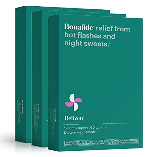 Bonafide - Relizen for Menopause Relief - Hot Flashes - Non-Hormonal, Drug-Free (3 Month).