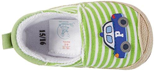 Sterntaler Baby Jungen Espandrilles Krabbelschuhe Grün (Sommergrün)