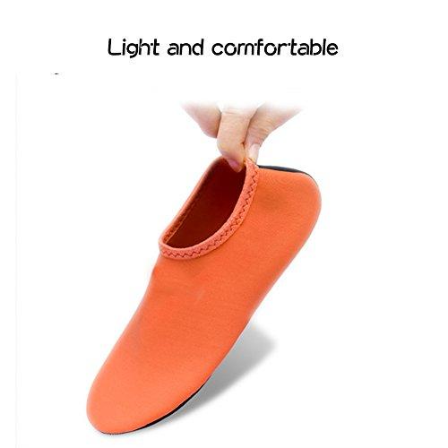 JIASUQI Kinder, Frauen und Herren Classic Barfuß Wassersport Haut Schuhe Aqua Socken für Beach Swim Surf Yoga Übung Blau / Camou
