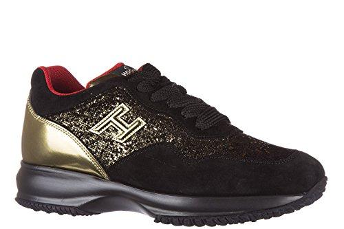 Hogan Scarpe Randello Signore Sneakers Signore Camoscio Scarpe Da Tennis H Interattivo