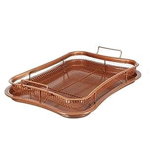 Picnic barbacoa accesorio de bandeja de goteo de hornear pan horno. Más sano Bacon enfriador de barbacoa placa de parrilla