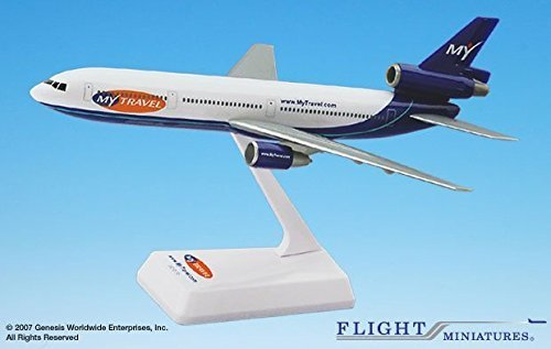 Dc 10 Airplane (Flight Miniatures MyTravel Airways Douglas DC-10 1:250 Scale Display)