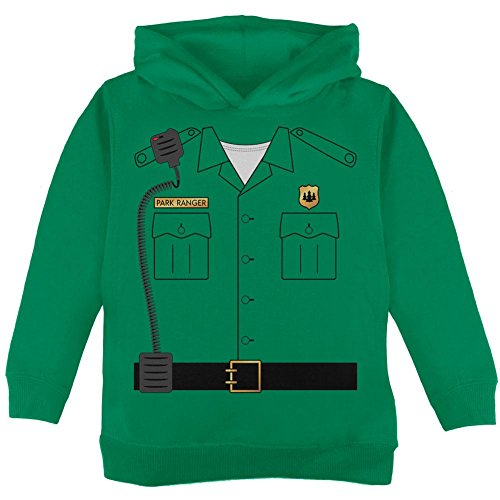 Old Glory Halloween Forest Park Ranger Costume Toddler Hoodie Green 4T ()
