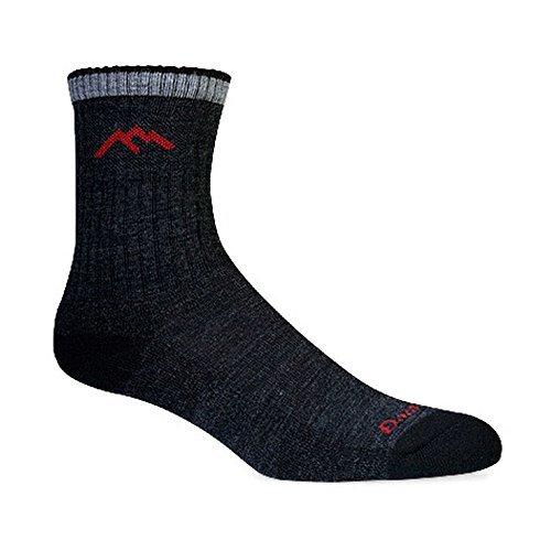 Wool Socks Crew Ankle (Darn Tough Merino Wool Micro Crew Sock Cushion,Black,Medium)