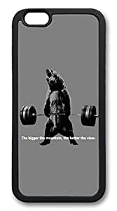 iphone 6 plus 5.5inch Case Bear Lifting Weights Quote TPU Custom iphone 6 plus 5.5inch Case Cover Black