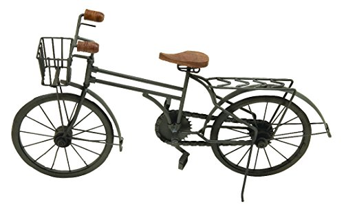 "Deco 79 36390 Metal Wood Replica Bicycle Sculpture, 20""W/11""H -  UMA Enterprises"