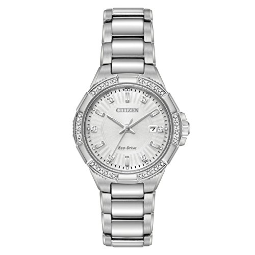 Citizen Women's 'Eco-Drive' Quartz Stainless Steel Casual Watch, Color:Silver-Toned (Model: EW2460-56A) (56a Watch)