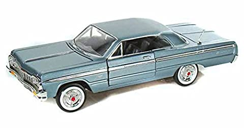 1964 Chevy Impala, Metallic Blue - Showcasts 73259 - 1/24 Scale Diecast Model Car