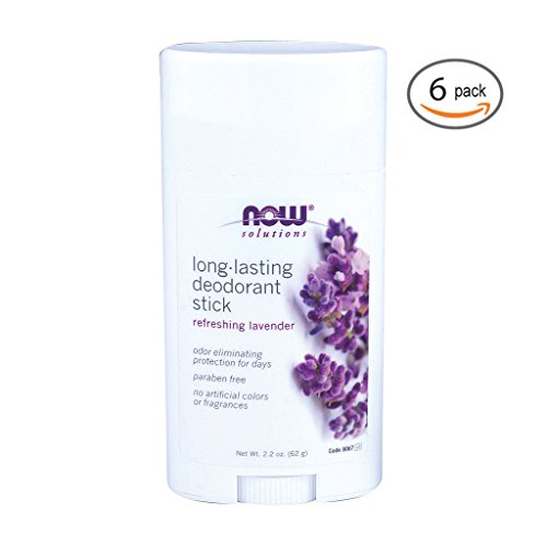 Now Foods Long Lasting Deodorant Stick - 2.2 oz 6 Pack ()