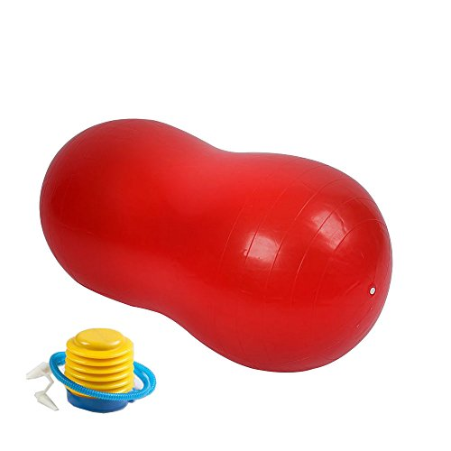 Gobuy Anti-Burst Health Fitness Kids Adults Peanut Yoga Ball for Yoga, Exercise, Pilates,Therapy (Red)