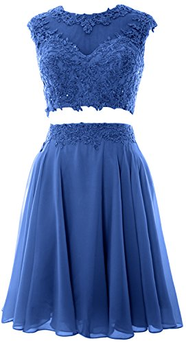 Lace Prom Wedding 2 Party Vintage Gown Horizon Dress Women Homecoming MACloth Piece wRpHH0