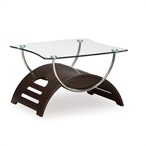 Global Furniture Chrome Occasional End Table with Wenge Legs