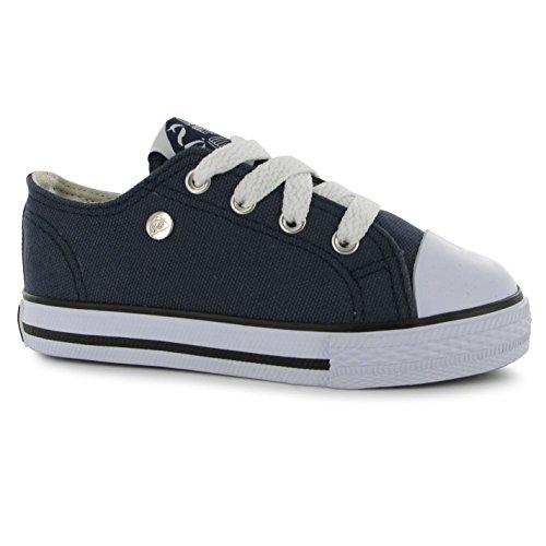 Dunlop Kinder Baby Canvas Leinenschuhe Textil Schnürschuhe Turnschuhe Schuhe Marineblau