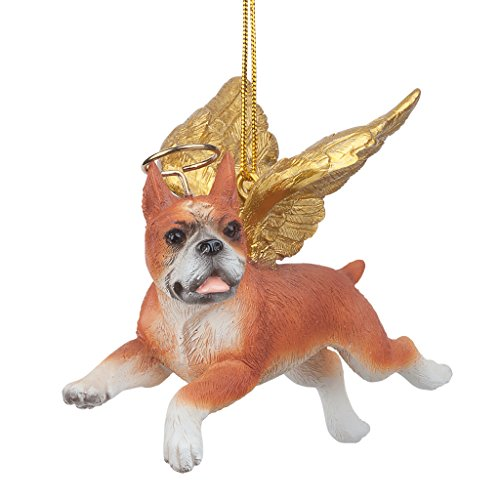 Dog Holiday Ornaments - Christmas Tree Ornaments - Honor The Pooch Boxer Holiday Angel Dog Ornaments