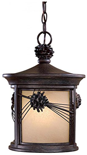 Minka Lavery 9154-A357-PL 1 Light Chain Hung Lighting, Iron Oxide Finish