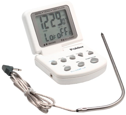 Polder Cooking Thermometer with Timer and Clock (Polder Clock)