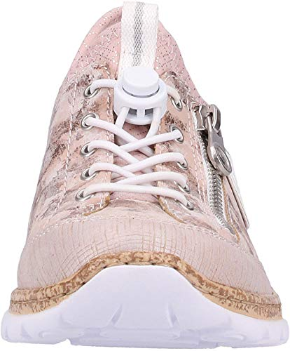 scarpe weiss Donna rosa Casuale rose slip Lightrose Pantofola argento on silver Moda slip 30 Rieker alla N4263 8wOqx5wU1