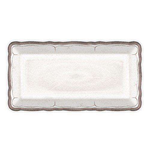 Le Cadeaux Rustica Antique Biscuit Tray, White