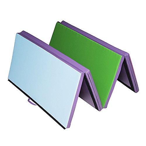 "New MTN G 4'x8'x2"" Folding Gym Mat Gymnastics Tumbling Yoga Sports Floor 4 Color"