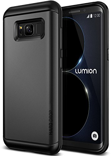 Galaxy S8 Plus Case :: Lumion :: Dual Layer Hard Rugged Drop Protection :: Slim Thin Fit :: Heavy Duty Shock Absorption Cover For Galaxy S8 Plus by Lumion (Patriot - Dark Silver)