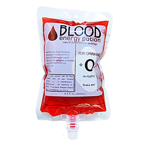 SGI 1PCS Reusable Blood Energy Drink Bag Halloween Pouch Props Vampire Cosplay 250ml Decoration Toys - 02# -