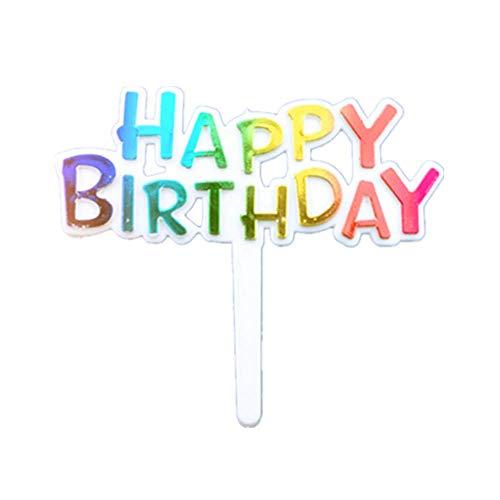 Pack of 100 Colourful Mini Happy Birthday Cupcake